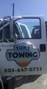 roadside assistance by Tom's Towing, Ventura
