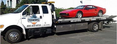 exotic car moving from Tom's Towing