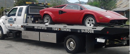 flatbed exotic car towing