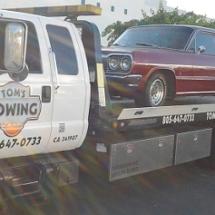 toms towing antique car Bel Air