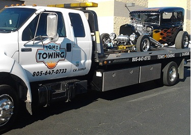 toms towing ventura antique car moving